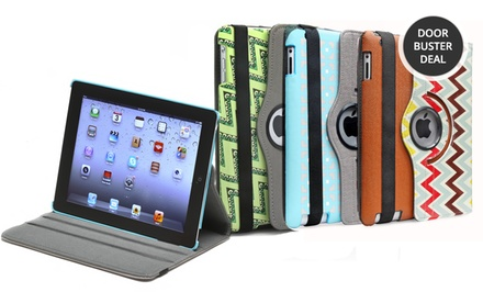 Aduro Rotating Stand Case for iPad 2, 3, 4, or mini. Multiple Patterns Available from $7.99-$8.99. Free Returns.