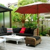 9' Wood Patio Umbrella