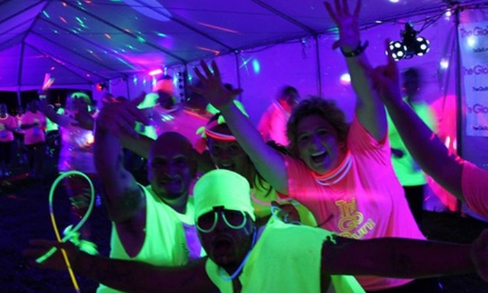 The Glo Run - Veterans Park: $38 for The Glo Run 5K Plus Super Glo Package on Saturday, September 21 ($78 Value)