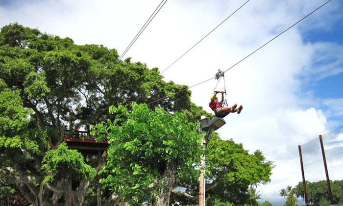 Bay View Mini-Putt and Zipline - Kaneohe: Two Zipline Rides for Two People, or Party Package for 25 at Bay View Mini-Putt and Zipline (Up to 57% Off)