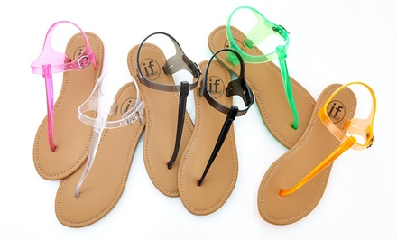 Carrini Women S Jelly Sandals Groupon Goods