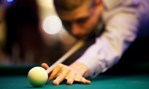 Billiards Academy & Sports Lounge: Pool, Appetizers, and Pints for Two or Four at Billiards Academy & Sports Lounge (Up to 50% Off)