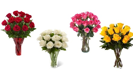 Bouquet of 12 Roses for £19.99 with Personalised Message (50% Off)