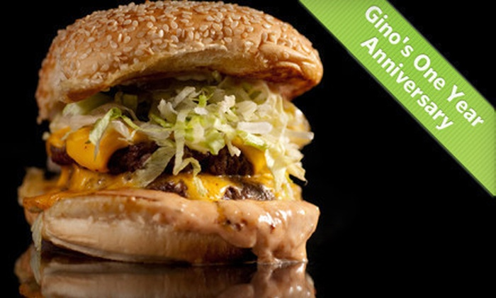 Gino's Burgers & Chicken - Multiple Locations: $15 for $30 Worth of Burgers, Chicken, and Shakes at Gino's Burgers & Chicken