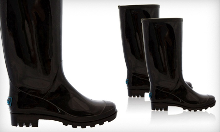 BootsiTootsi Black Rain Boots: $24 for a Pair of BootsiTootsi Black Rain Boots ($48 List Price). Five Sizes Available. Free Shipping.