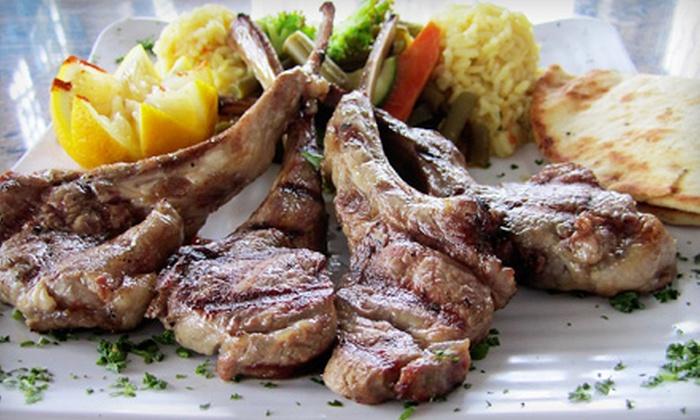 Stratos Greek Taverna - Dallas (Love Field): $15 for $30 Worth of Greek Food for Dinner at Stratos Greek Taverna