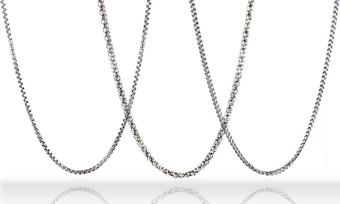 asp c chain silver curb inches sterling p italian ekm chains length