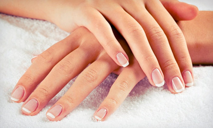 Visual Elegance Hair Studio - Nutley: Two or Four Basic Manicures or Two or Four French Manicures at Visual Elegance Hair Studio (Up to 58% Off)
