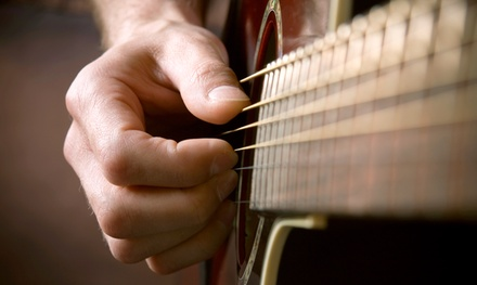 Four Half-Hour Private Guitar, Bass, Piano, Banjo, Ukulele, or Songwriting Lessons at Hermes Studio ($100 Value)