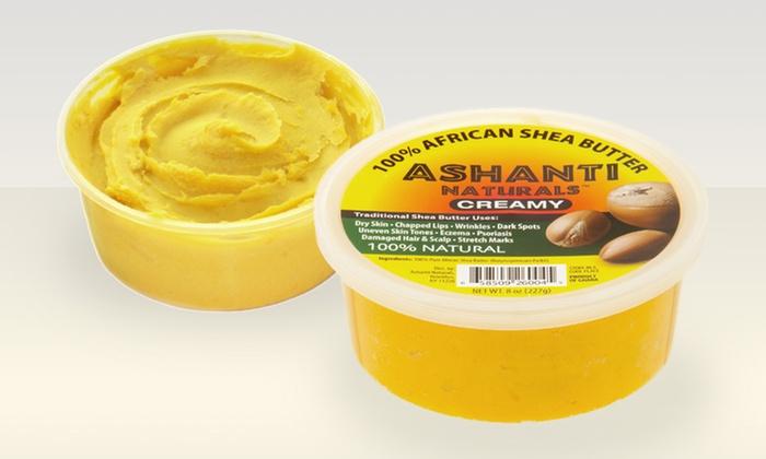 Ashanti Naturals Creamy African Shea Butter: Two 8 Oz. Containers of Ashanti Naturals Creamy African Shea Butter