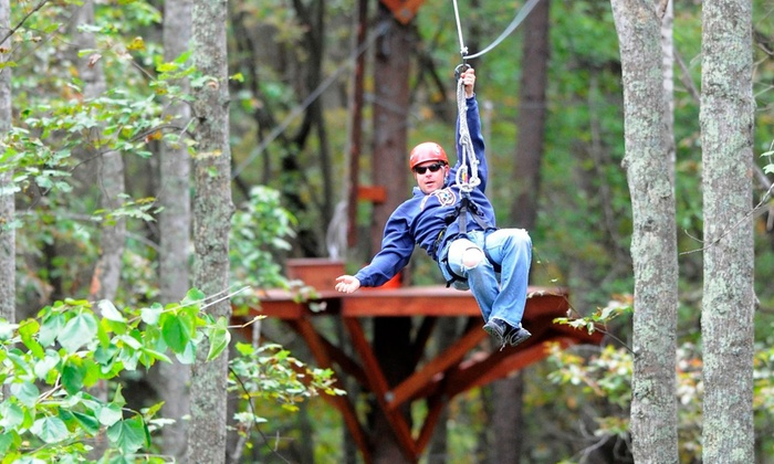 Mammoth Cave Adventures - Cave City: Ziplining and Mammoth Cave Drop Tower for One or Two at Mammoth Cave Adventures (Up to 51% Off)