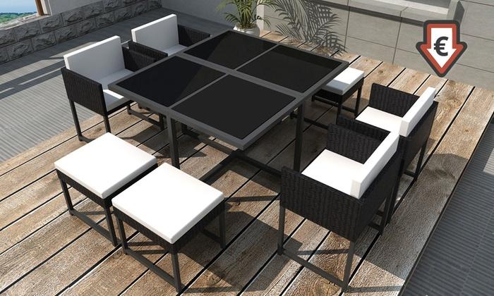 jusqu 39 16 salle manger pour jardin ou terrasse groupon. Black Bedroom Furniture Sets. Home Design Ideas