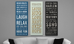 "$79.99 For A Customized 18""x50"" Bus Roll From Great Big Canvas ($184 Value)"