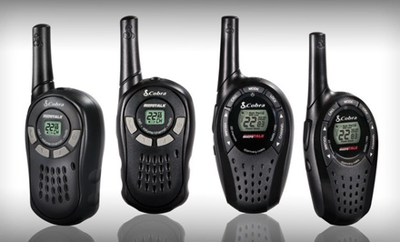 Cobra MicroTalk Precharged 2-Way Radios with 16- or 20-Mile Range from $24.99–$34.99.