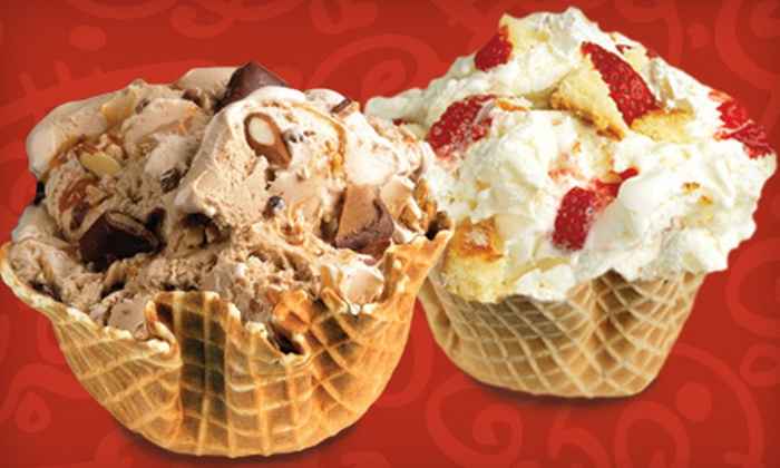 Cold Stone Creamery - Galewood: Two or Four Waffle-Bowl Ice-Cream Creations or Catering Package at Cold Stone Creamery (Up to 55% Off)