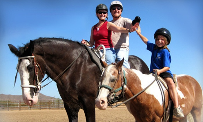 The Joni Fitts School of Horsemanship - Pinnacle Peak Equestrian Center: $150 for Five Private or Group Horseback-Riding Lesson at The Joni Fitts School of Horsemanship ($325 Value)