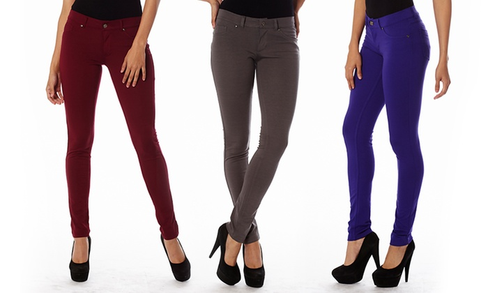 4-Way Stretch Ponte Pants: 4-Way Stretch Ponte Pants. Multiple Colors Available. Free Returns.