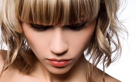 Haircut and Style with Option for Partial Highlights at Shaso Salon & Spa (Up to 57% Off)