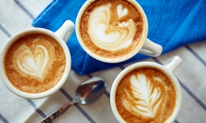 Blue Box Cafe: Coffee and Sandwiches at Blue Box Cafe (40% Off). Two Options Available.