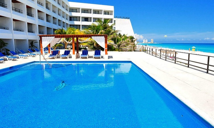 All-Inclusive Flamingo Cancun Resort Stay with Airfare from Travel By Jen - Cancun: 5 or 7-Night All-Inclusive Flamingo Cancún Trip w/Airfare. Incls. Taxes & Fees. Price Per Person Based on Dbl. Occupancy