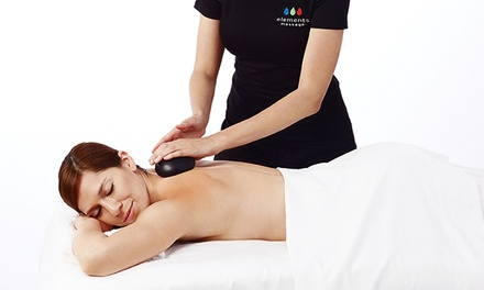 55- or 80-Minute Custom Massage at Elements Massage (Up to 51% Off)