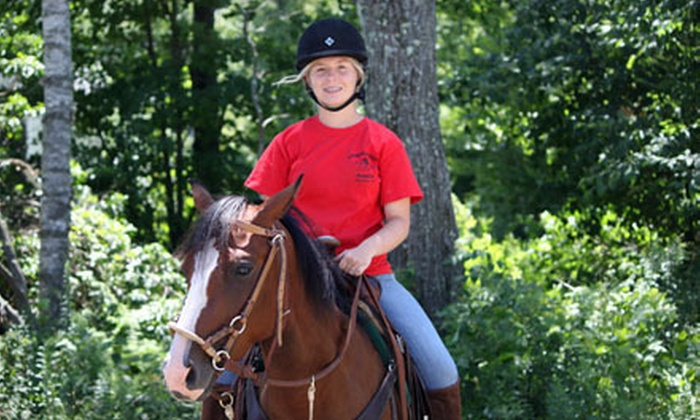 Cornerstone Ranch - Princeton: Guided Trail Ride on Horseback for One or Two at Cornerstone Ranch in Princeton (Up to Half Off)