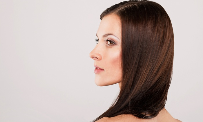 Hair Bar NYC - Multiple Locations: Brazilian Keratin Treatment with Option for Haircut, or $50 for $100 Toward Hair Services at Hair Bar NYC