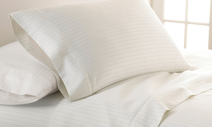 700-Thread Count Egyptian Cotton-Rich Damask Stripe 4-Piece Sheet Set : Pacific Coast Textiles Egyptian-Cotton-Rich Damask-Stripe Sheet Set. Multiple Colors Available. Free Returns.