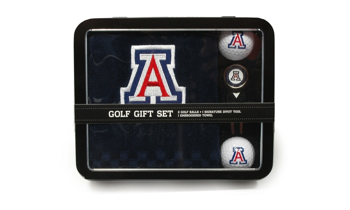 ncaa 4 piece golf gift set groupon goods. Black Bedroom Furniture Sets. Home Design Ideas