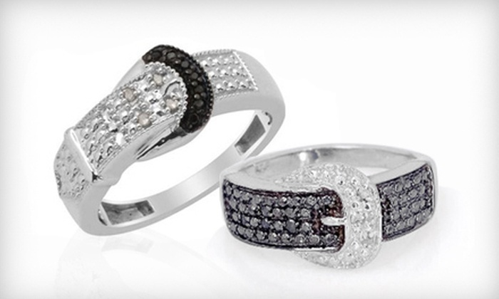$29 for a Diamond-Accented Buckle Ring ($100 List Price). Multiple Styles and Sizes Available. Free Shipping.