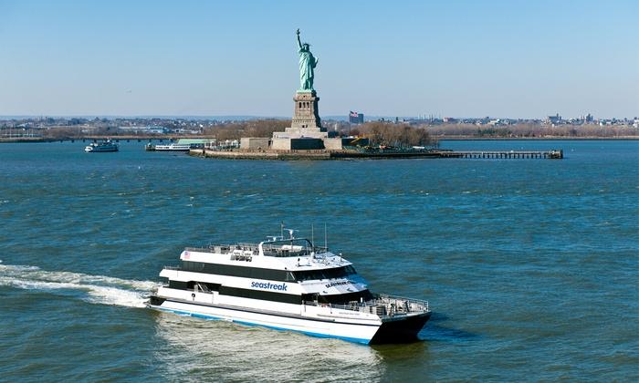 Seastreak - Multiple Locations: $25 for a Round-Trip Ferry Ride to Sandy Hook Beach from Seastreak ($45 Value)