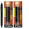 Pilot FriXion Ball Erasable Black Gel Pens (3-Pack) with 6 Refills