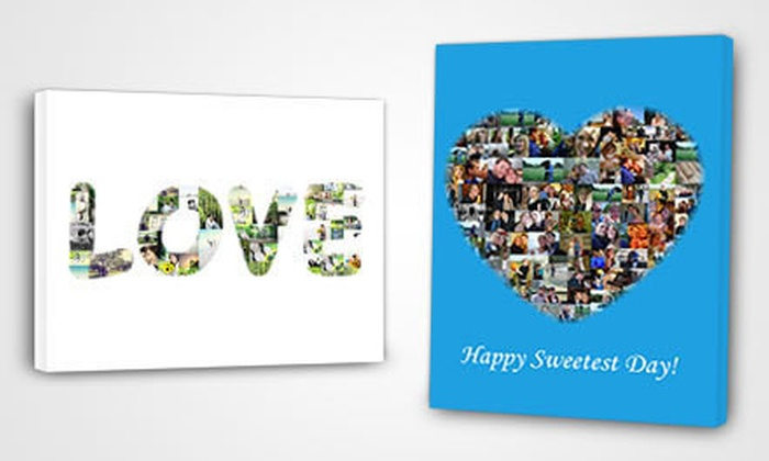 """16""""x20"""" Customizable Collage Canvas: $39 for a 16""""x20"""" Customizable Collage Canvas from Collage.com with Shipping Included ($105.97 Total Value)"""