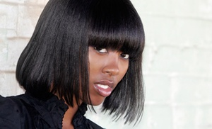 Maven Hair Studio: Shampoo and Style or Relaxer Touchup with Shampoo, Conditioner, and Style with Melissa at Maven Hair Studio (Up to 58% Off)