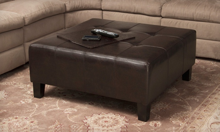 Great Deal Furniture Leather Ottomans: Great Deal Furniture Leather Ottoman  (Up to 71% - Up To 71% Off A Leather Ottoman Groupon