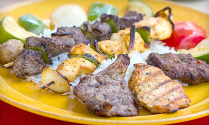 Pasha's Healthy Mediterranean Cuisine - Multiple Locations: Mediterranean Cuisine at Pasha's Healthy Mediterranean Cuisine (Half Off). Two Options Available.