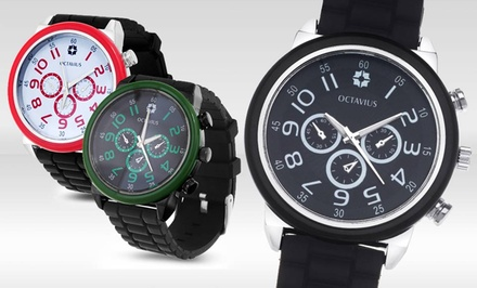 Octavius Men's Maritime Watch. Multiple Colors Available.