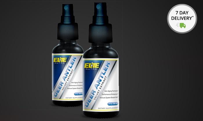 2-Pack of Elite Nutra Deer Antler Velvet Extract Spray: 2-Pack of Elite Nutra Deer Antler Velvet Extract 2 Fl. Oz. Spray