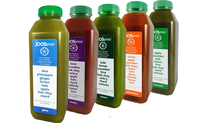 JOOS - Multiple Locations: 3-, 5-, 7-, or 21-Day Organic-Juice Cleanse from Joos (Up to 53% Off)