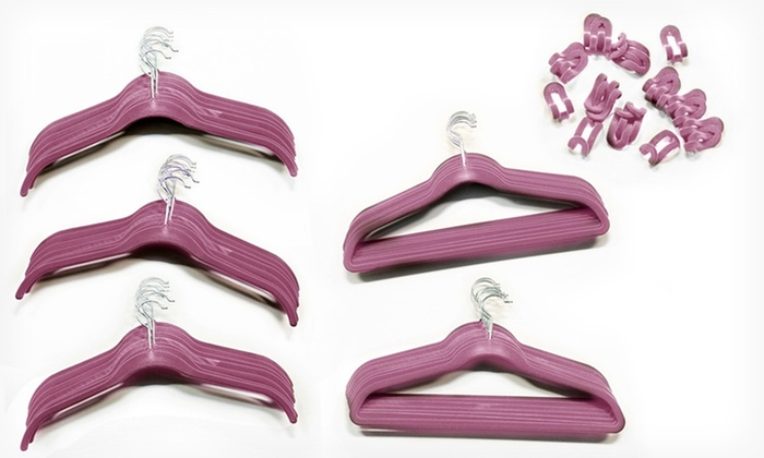 70-Piece Hanger Set: $34.99 for a 70-Piece Hanger Set ($120 List Price). Multiple Colors Available. Free Shipping and Returns.