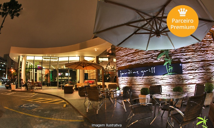 Jardins Grill - Curitiba: Churrascaria Jardins Grill – Rebouças: rodízio de carnes, para 2 ou 4 pessoas, a partir de R$ 74,90
