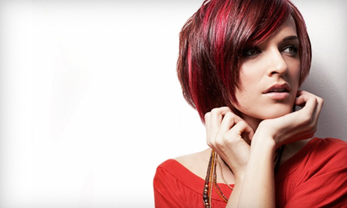 Rock•Paper•Shears at Stylmup Salon - Kendrick Lake: Haircut and Style with Color or Partial Highlights from Rock•Paper•Shears at Stylmup Salon in Lakewood (Up to 58% Off)