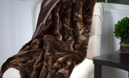 Lavish Home Luxury Long-Haired Faux Fur Throw
