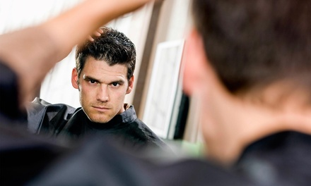 One or Three Men's Haircuts at Mitzi's Hair Design (Up to 54% Off)