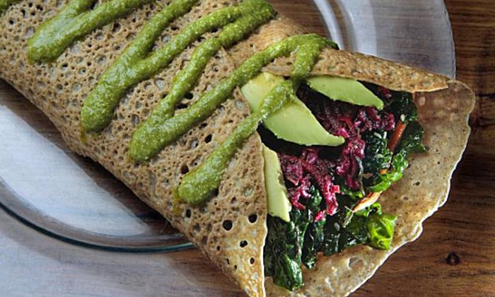 The Sunflower Center - Petaluma: Organic, Gluten-Free Vegan Cuisine at The Sunflower Center (Up to 54% Off). Two Options Available.