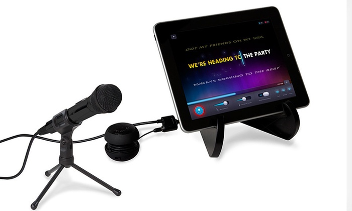 Soulo Karaoke System with Wired Mic, Mic Stand and Wired Speaker: $19 for a Soulo Karaoke System with Wired Mic and iPad Stand ($69.99 List Price). Free Shipping and Returns.