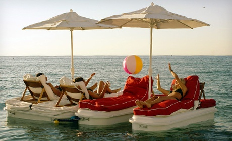 Floating Cabana Packages Adventure World Groupon