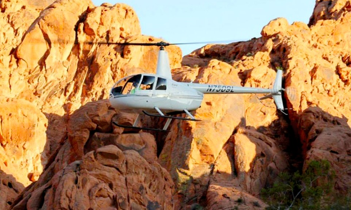 Skyline Helicopter Tours - North Las Vegas Airport: Strip, Red Rock Canyon, or Hoover Dam Tour from Skyline Helicopter Tours (Up to 51% Off). Four Options Available.