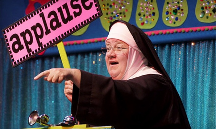 """""""Sister's Summer School Catechism: God Never Takes a Vacation"""" - The Meyer Theatre: """"Sister's Summer School Catechism: God Never Takes a Vacation"""" for Two at Meyer Theatre on August 21 (Up to 51% Off)"""
