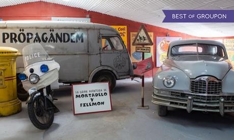 Entrada al Museo de coches de cine para adulto y niño desde 1,95 € en Coches de Cine